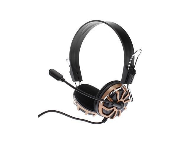 Ergonomics Design Noise-cancelling Hi-fi Speaker Omnidirectional Stereo Headset for Game (Black&Gold)