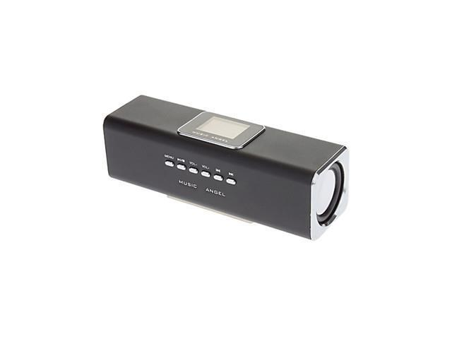 Rechargeable U-disk+SD+FM Stereo Speaker with TF Card Slot(Black)