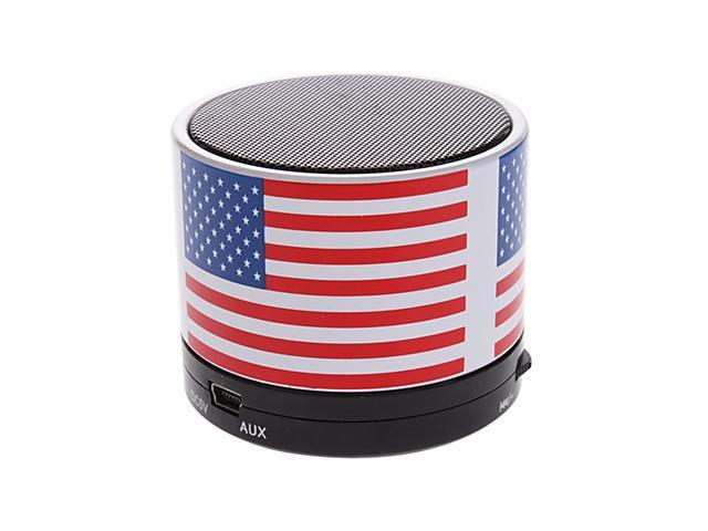 S10 The USA Flag Mini Bluetooth Speaker with TF Port for Phone/Laptop/Tablet PC