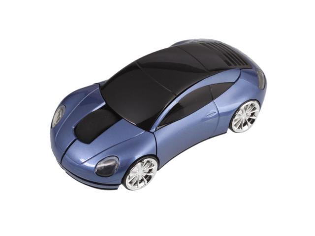 7300 Car Shaped 2.4G Wireless Optical Mouse Blue