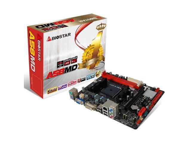 BIOSTAR A58MD Socket FM2+/ AMD A55/ DDR3/ A&GbE/ MicroATX Motherboard