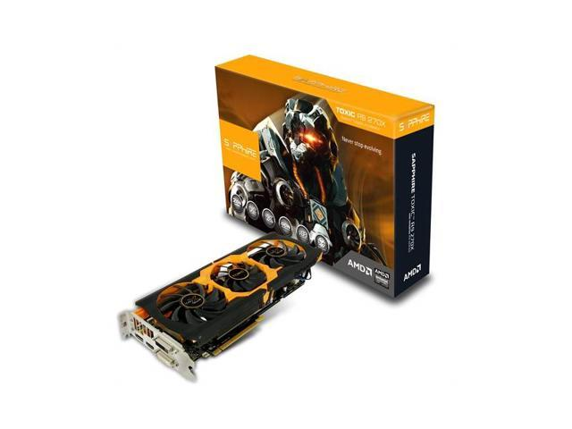 Sapphire TOXIC AMD Radeon R9 270X 2GB GDDR5 2DVI/HDMI/DisplayPort PCI-Express Video Card w/ Boost