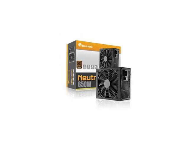 Solid Gear Sdgr-650Br 650W 80 Plus Bronze Atx12V V2.3 & Eps12V V2.91 Power Supply (Black)