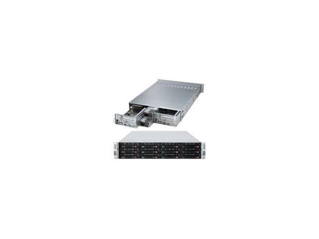 Supermicro Superserver Sys-6027Tr-Dtrf Two Node Dual Lga2011 1280W 2U Server Barebone System (Black)