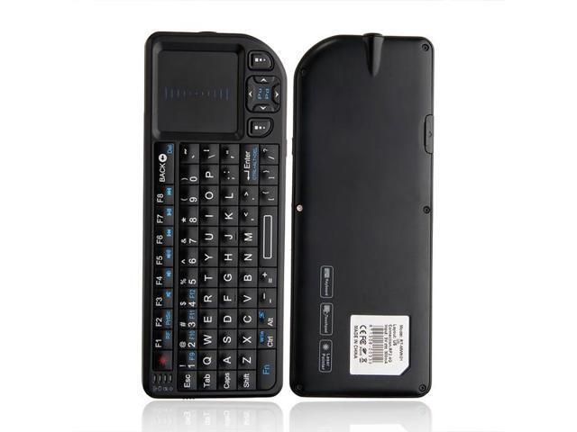 Keyboard Wireless Mini 2.4GHz Touchpad Laser Pointer Portable Black 2.4GHz