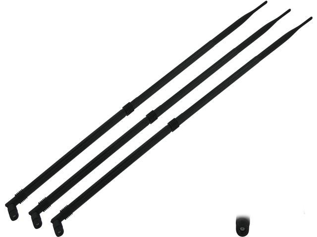 Super Power Supply® 3 x 12dBi RP-SMA Antennas for PCI-E Express Cards TP-Link TL-WR941ND TL-WA901ND TL-WN951N; D-Link DIR-880L DAP-2695 DAP-2533 ...