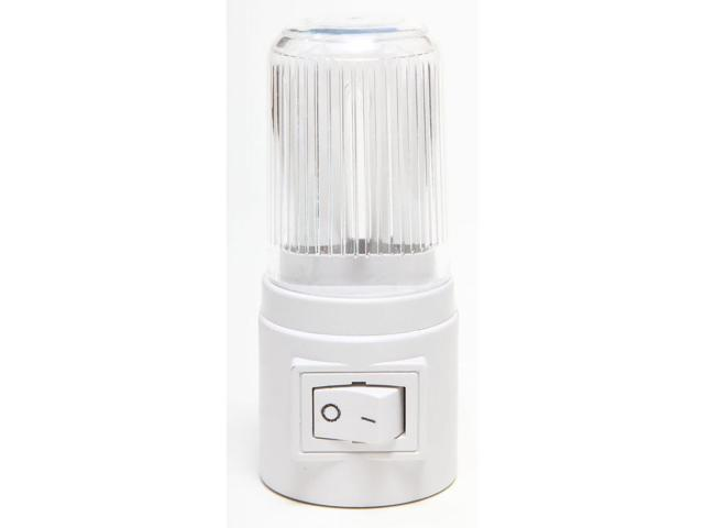 Bright Way, 878, White, Energy Efficient Compact Fluorescent Night Light, Manual On Off Switch