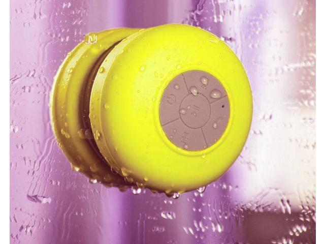 Splash Shower Tunes Waterproof Bluetooth Wireless Shower Portable Speaker - Yellow