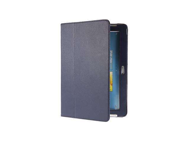 Tri-Fold Blue PU Leather Pouches with Stylus Pen for Samsung Galaxy Tab2 10.1 P5100