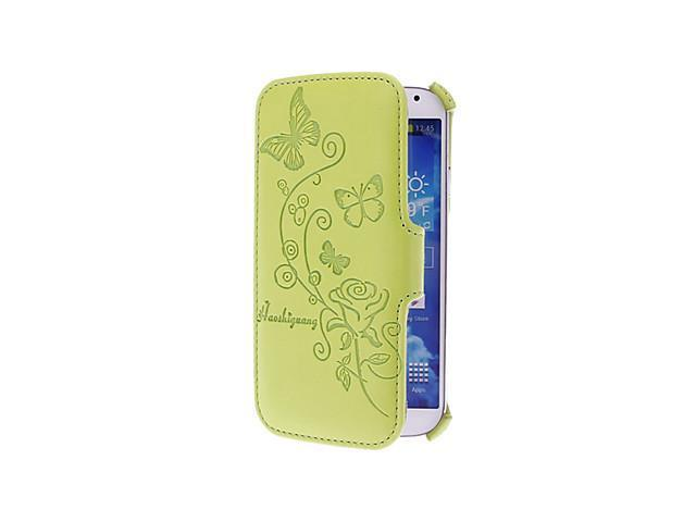 Thermosetting Rose Pattern PU Leather Full Body Pouches for Samsung Galaxy S4 I9500