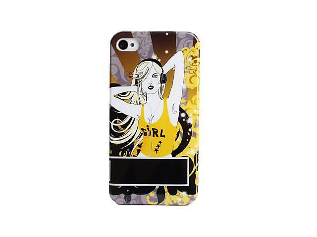 Fashion Girl Style Protective Case for iPhone 4 and 4S (Yellow)