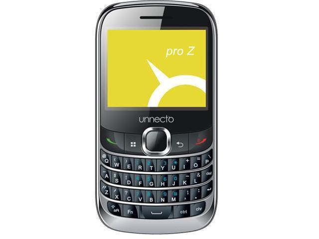 Unnecto U-240-2NA PRO Z Touchscreen QWERTY Black Dual SIM- US Warranty- Unlocked Quadband GSM Phone