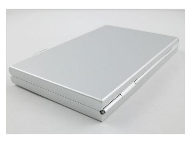 Silver Aluminum box Portable 6 in 1 memory card case SD SDHC MMC Card Cases