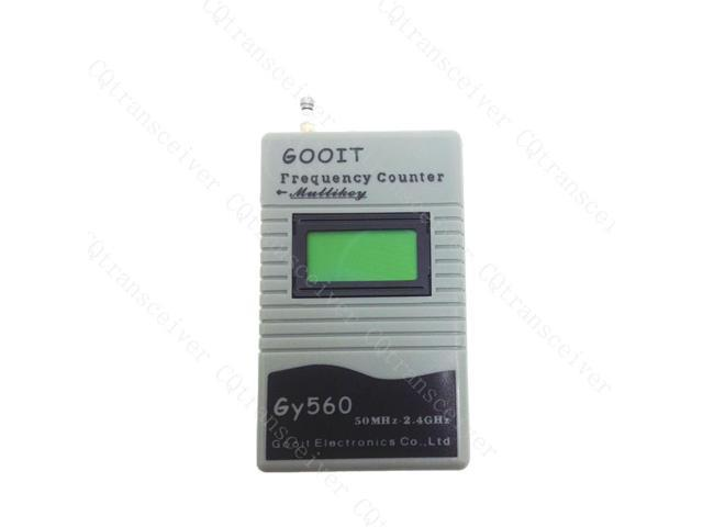 Handheld Digital Frequency Counter Tester 50Hz-2.4GHz Signal GY560 for 2 way Radio Wouxun KG-UVD1P TYT TH-UVF1 Quansheng TG-UV2