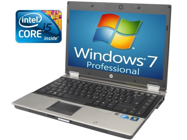 HP Elitebook 8440p Laptop - Core i5 2.4ghz - 4GB DDR3 - 250GB HDD - DVDRW - Win 7 Pro 64bit