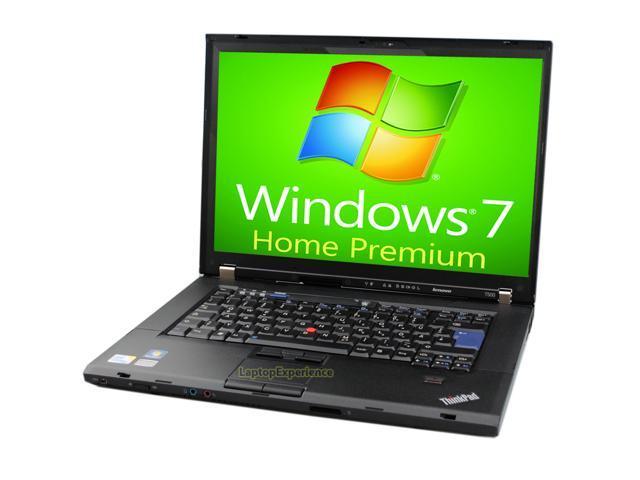 Lenovo Laptop ThinkPad T500 - Webcam - Core 2 Duo 2.40GHz - 4GB DDR3 - 320GB - DVD+CDRW - Windows 7 Home Premium 64bit
