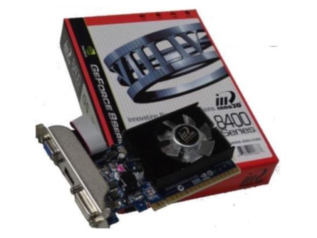 Inno3D nVidia GeForce 8400GS 1GB DDR3 VGA DVI HDMI PCI Express Video Card