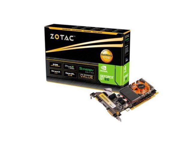 New ZOTAC NVIDIA GT 610 Synergy 2GB DDR3 HDMI PCI E Video Card NEW ZT 60601 10L