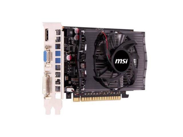 MSI NVIDIA GeForce GT 730 2GB DDR3 VGA DVI HDMI PCI Express Video Card