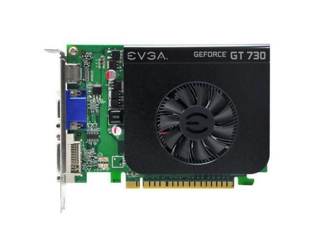 New EVGA NVIDIA GeForce GT 730 1GB GDDR5 VGA DVI HDMI PCI Express Video Card
