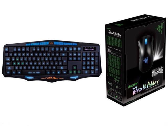Razer DeathAdder Gaming Mouse 3500DPI GK39 Illuminated Gaming Keyboard