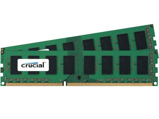 Crucial 4GB Kit 2x 2GB DDR3 1600MHz PC3 12800 Non ECC Desktop Memory RAM 1600
