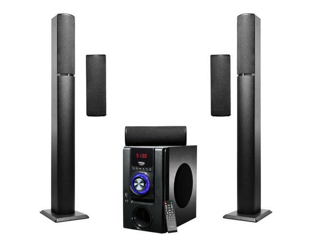 Frisby 5 1 Surround Sound Home Theater Tower Wireless Bluetooth Speakers System