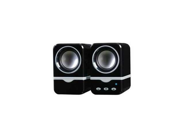Bluetooth Digital Speakers Black for PC Notebook MP3 iPad iPhone