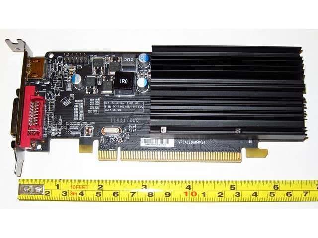 1024MB 1GB PCI-E x16 Low Profile Dual Monitor Display View Video Graphics Card