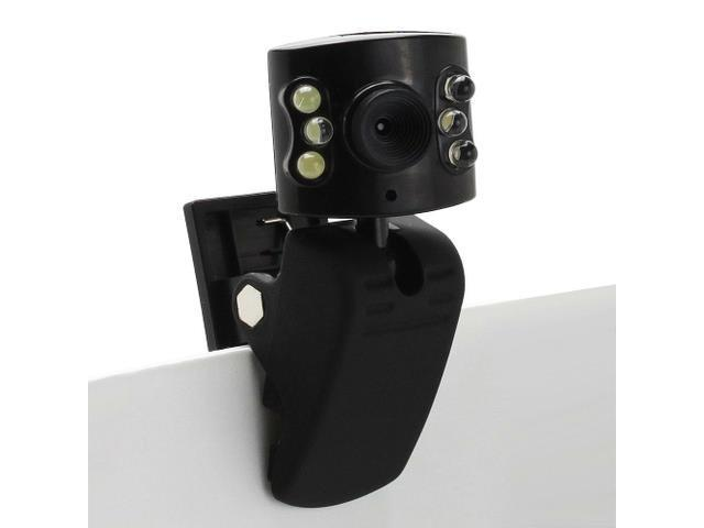 USB 6 LED Microphone Webcam with Clip 1.3 MP Camera for PC Laptop