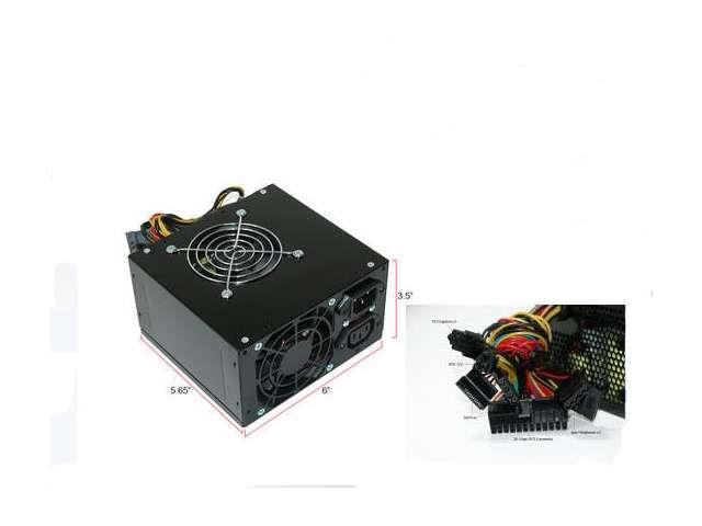 Black ATX Dual Fan 650W Silent Power Supply w/20-24pin SATA PCI-E New