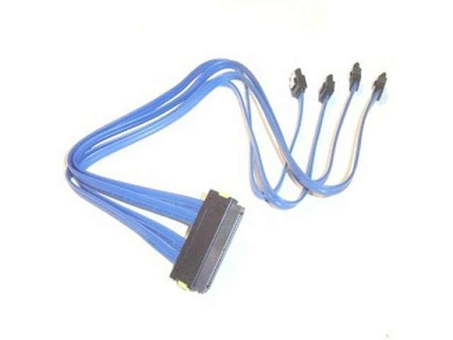 32 Pin Serial Attached SCSI SAS to 4 x 7 Pin SATA Cable