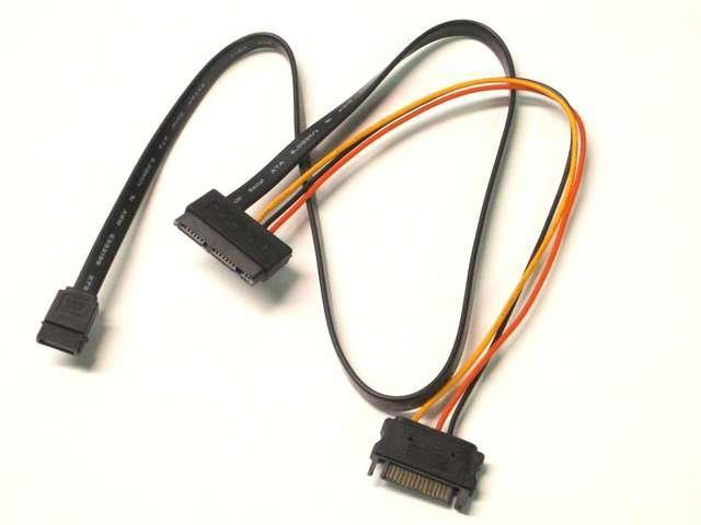 SATA Cable with 15 Pin Power and SATA III DATA Adapter Cable