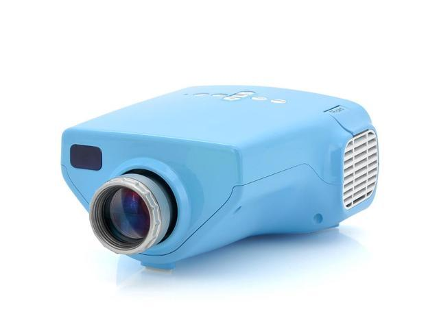 MiniView - Portable Video Projector (Coaxial TV Input, 100 Inch Projection, 200: 1, Blue)