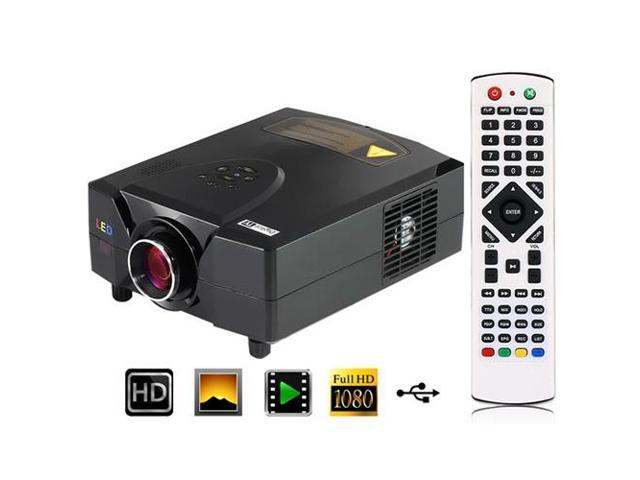 1080P HD LED Home Theater Projector (2200 Lumens, DVB-T, HDMI/VGA/AV Input)