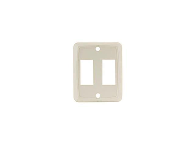 Jr Products Ivory Double Switch Wall Plate 12905