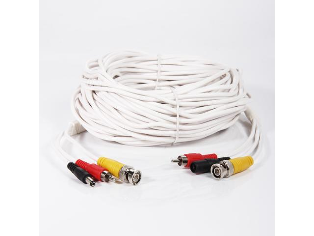 100ft Audio Video Power Security Camera Cable CCTV DVR Home Surveillance Cord