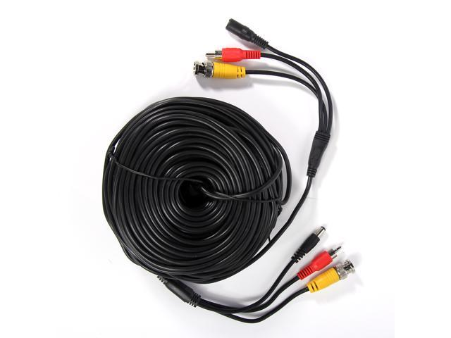 150ft Audio Video Power Security Camera Cable CCTV DVR Surveillance Cord black