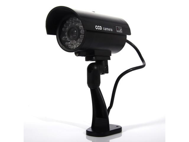 Dummy Security Camera Blinking Light Fake Infrared LED CCTV Surveillance CAM