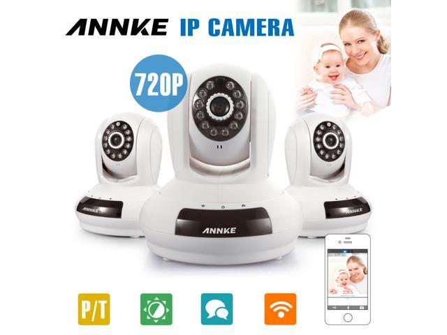 Annke® 3-Pack HD 1280 x 720P Baby/Pets Monitor Wireless WIFI Pan/Tilt IP Camera for Home Security Video Recording Easy Remote Access via PC & ...