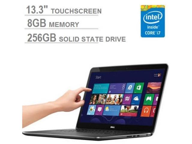 New DELL XPS 13 Touchscreen Ultrabook Intel Core i7 4500U 8GB 256GB Solid State Drive HD Graphics 4400 13.3