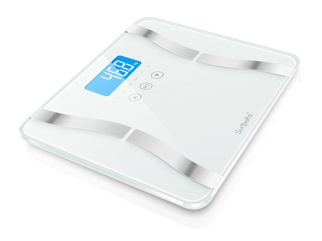Surpahs Dual-S Body Fat Scale, 4 User Recognition, Measures Body Weight, Fat, Water, Calories, Muscle and Bone Mass
