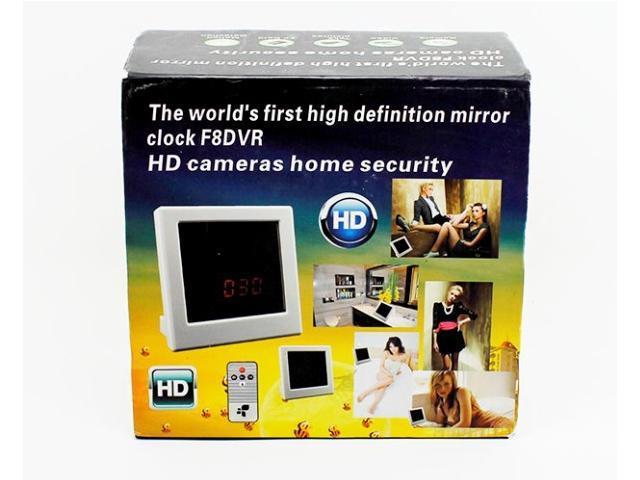 Spy Clock Cameras HD Cameras Home Security Camera F8 Spy Hidden Pinhole CMOS Camera DVR Digital Video Recorder