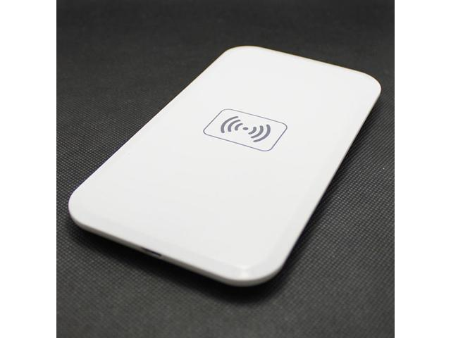 Portable 5V USB Qi Wireless Charger White Qi Wireless Charging Pad (MC-02A) + White Qi Wireless Receiver (MC-S4) Charging for SAMSUNG I9500 GALAXY S4