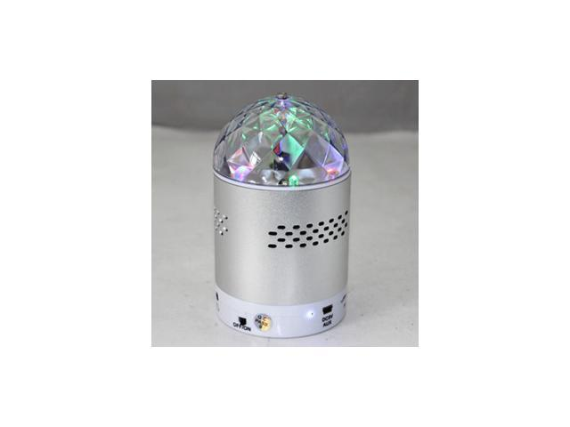 Portable Mini Speaker SK#20 Colorful Flashing Lights Metallic MP3 Speaker With FM Radio USB TF Card Read Function for Mobile Phone Laptop Computer