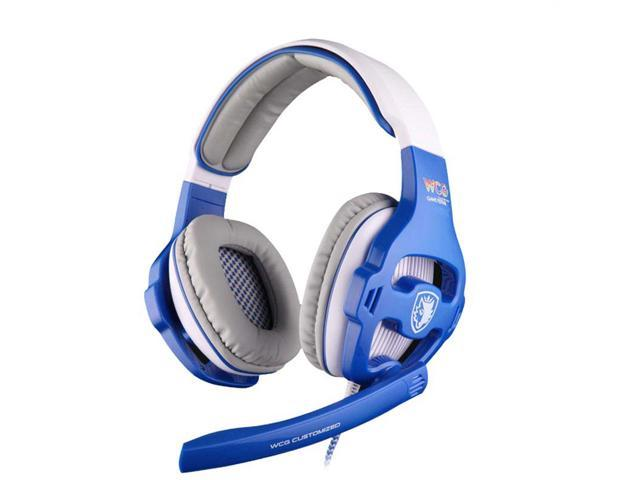 SADES WCG USB Gaming Headphones 7.1 Headset With Microphone + Volume Control Cool Glare Effect For Computer
