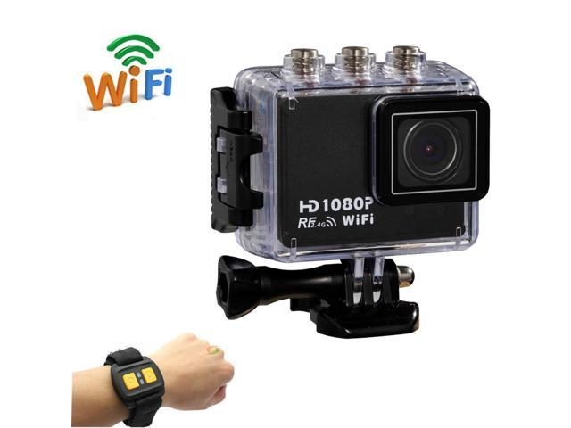 Action Camera Original AT200 Wifi Remote Control 30M Waterproof 1080P 5MP Full HD Underwater Sport Cameras With Gopro Hero3 Style (not Gopro Brand)
