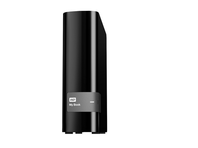 WD My Book 3TB USB 3.0 Hard Drive with Security, Local and Cloud Backup (WDBFJK0030HBK-NESN)