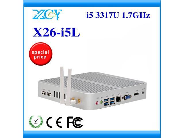 Industrial Computer mini pc with HDMI+VGA linux embedded thin client X26-i5L support wireless keyboard, mouse and touch screen