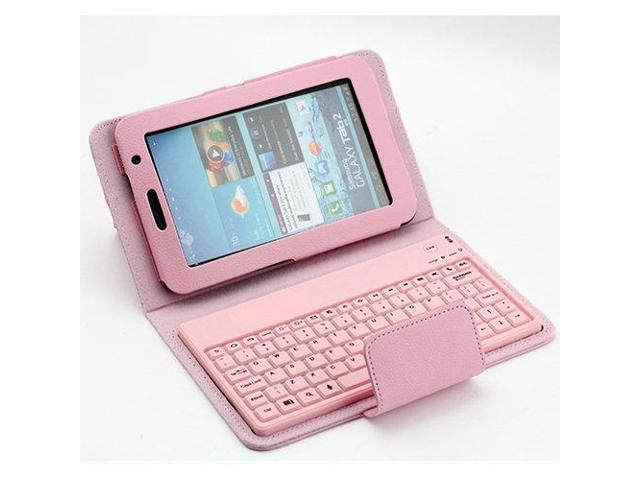SUPERNIGHT Wireless Bluetooth Keyboard with PU Leather Case Cover Stand Protective For Samsung Galaxy Tab 2 7.0 P3100 P3110 P3113 P3108 P6200 ...